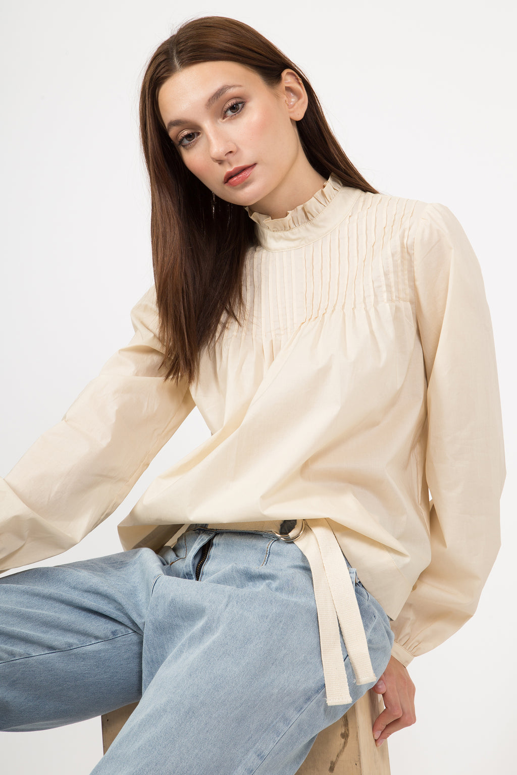 MARGO MOCK NECK BLOUSE