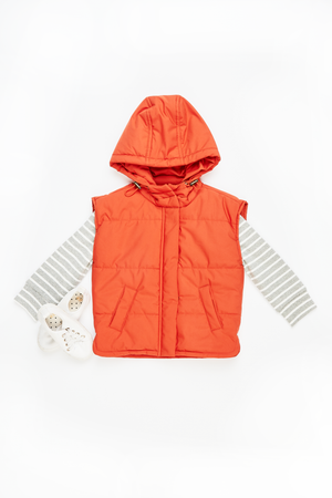 MAISIE HOODED PUFFER VEST