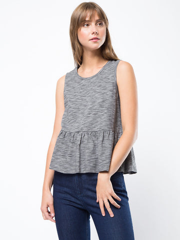 Peplum sleeveless t-shirt