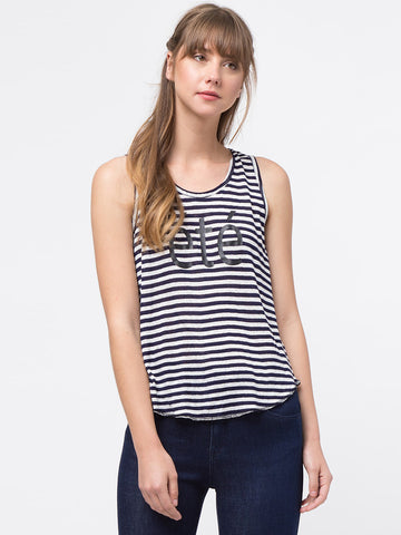 """ETE"" Striped Tank Top"