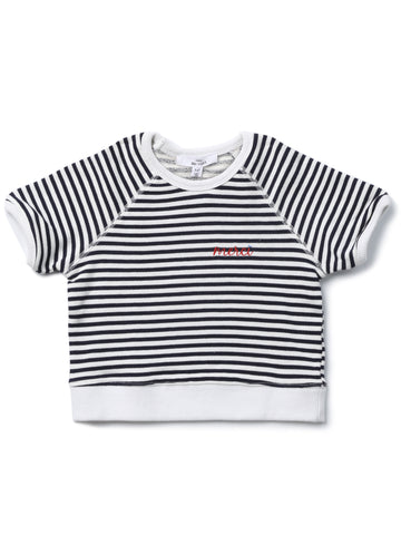 Striped Short Sleeve Reglan T-shirt