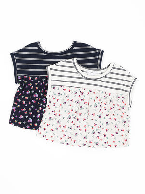 (Kids) Mixed Print Top