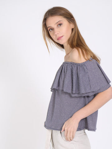 Double Ruffle off Shoulder Top