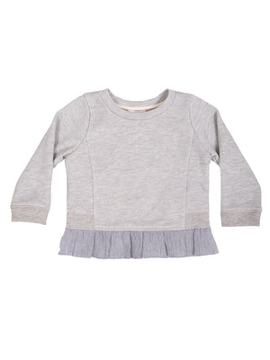 (Kids) Peplum Sweatshirt