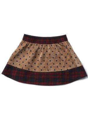 (Kids) Contrast detailed Skirt