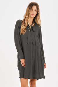 Pin-Dot Shift Dress