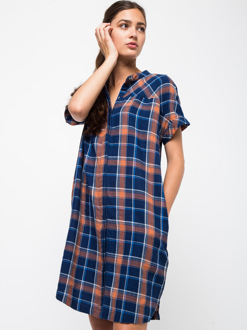 Drop Shoulder Shirts Dress