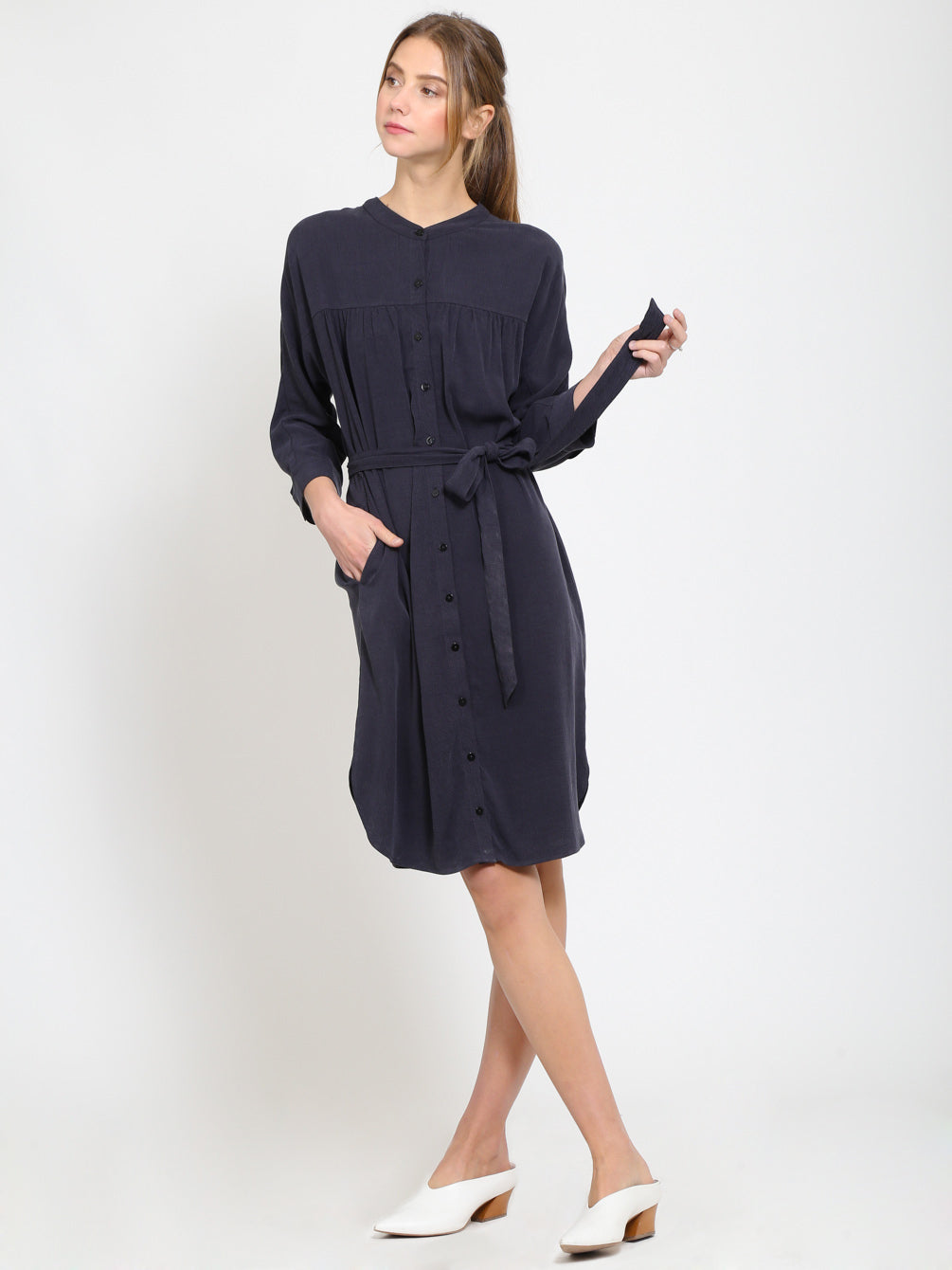 Yoke Shirts Dress