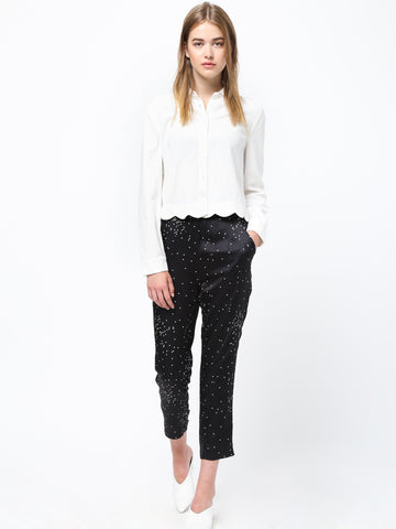 Waist Band Pin-tuck Trousers
