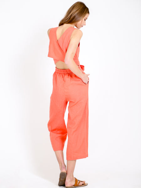 The Kenzie Jumpsuit - Coral