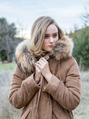 Fur Detailed Hoodie Jacket