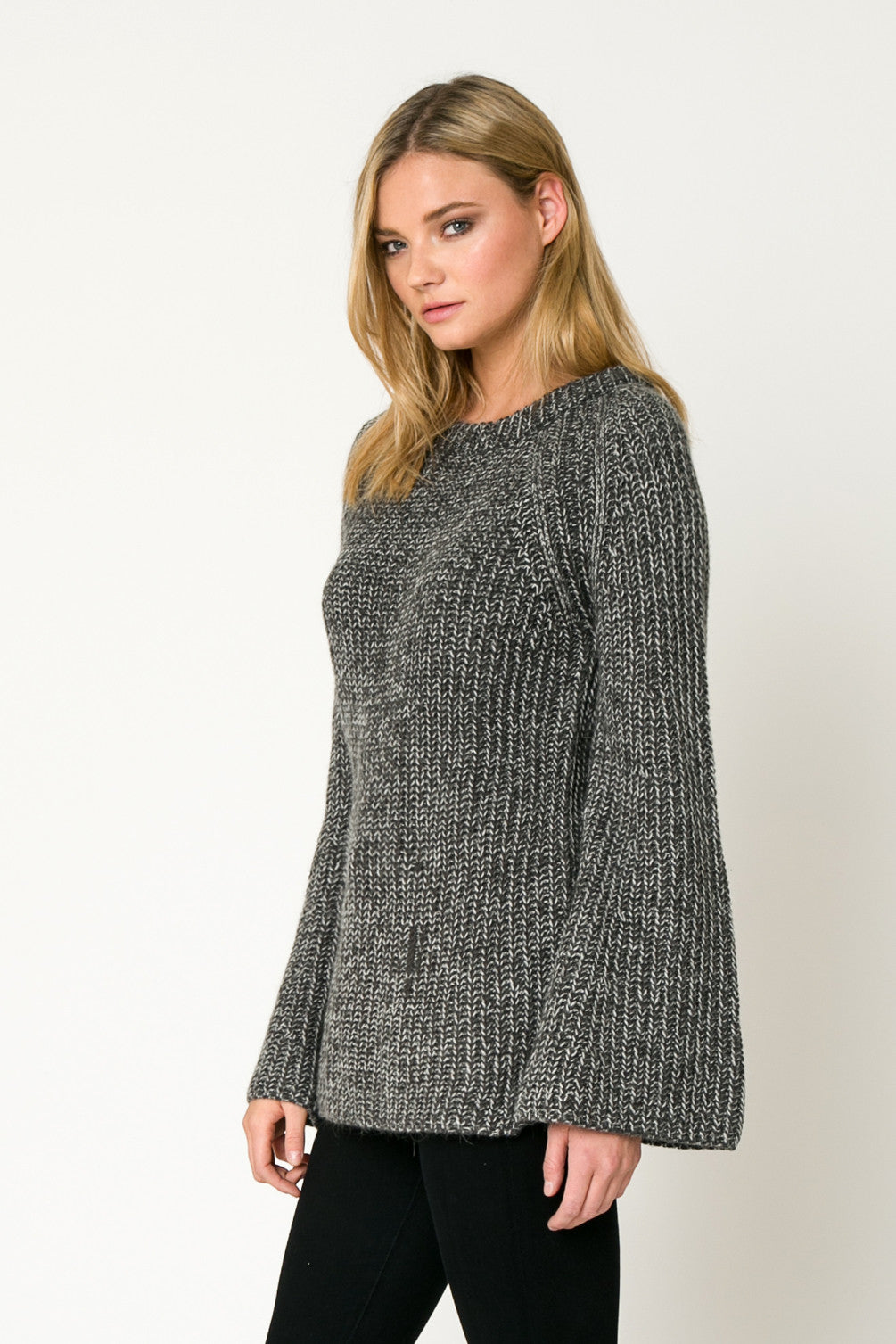 Bell Sleeve Chunky Sweater