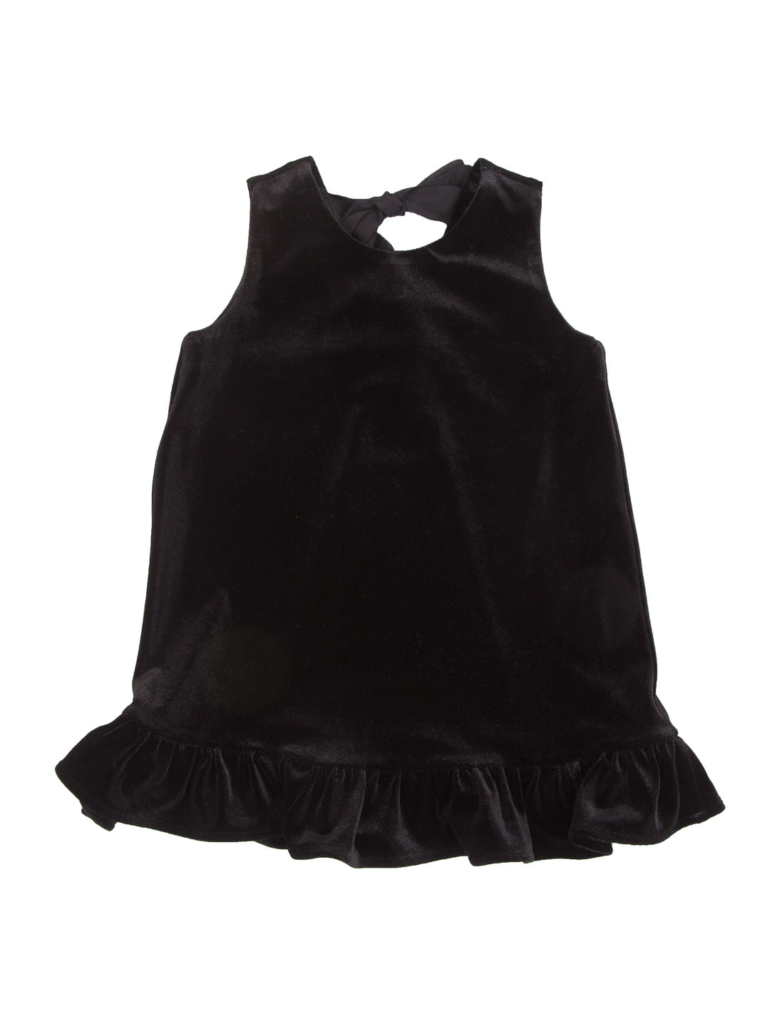 [KIDS] Velvet Ruffle Hem Dress