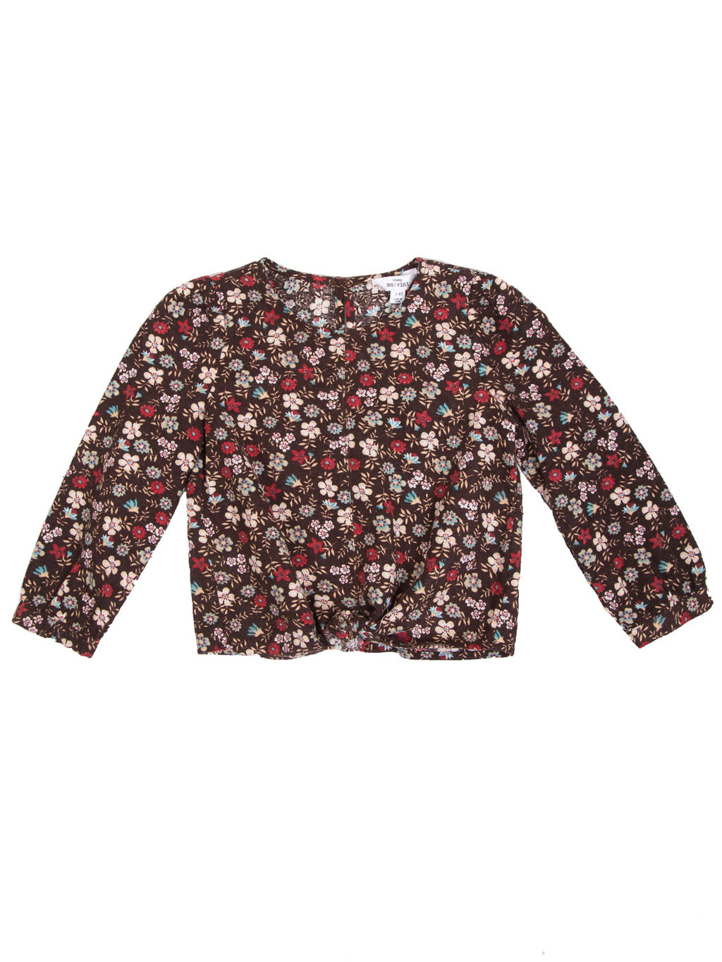 (Kids) Floral Knot Front Top