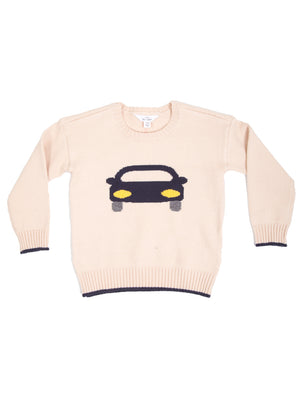 CARTOON CAR PULLOVER SWEATER
