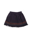 (Kids) PomPom Detail Embroidery Skirt