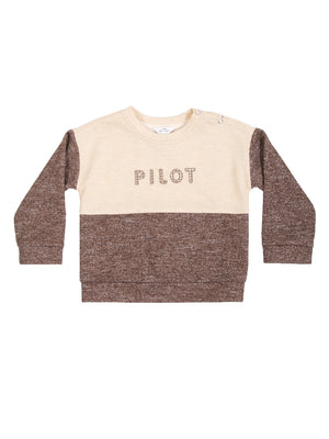 (Kids) Pilot Snap Button Detail Sweatshirt