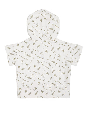 ARROW & FEATHER HOODIE SHIRT