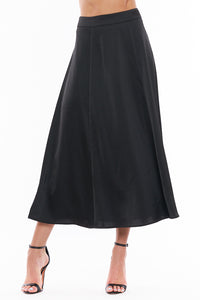 Madalyn Satin Midi Skirt