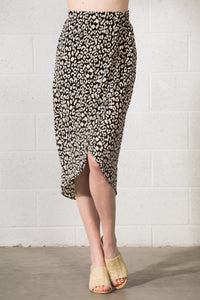 Laylah Animal Print Midi Skirt