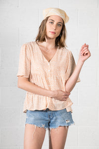 Short sleeve V-Neck basic top