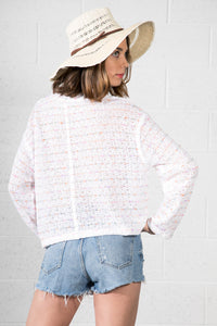 Cassandra Textured Knit Sweater