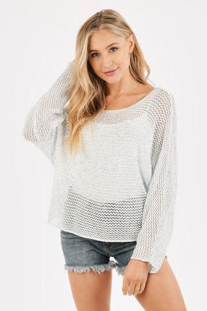 OPEN ROUND LOOSE KNIT