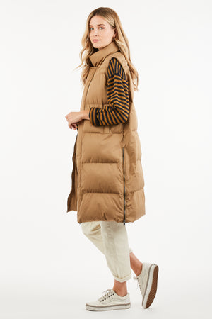 JAMIE SLEEVELESS PUFFER COAT