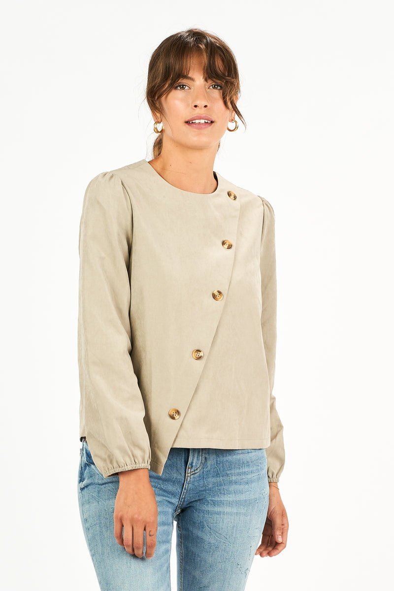 Alexa Button Blouse