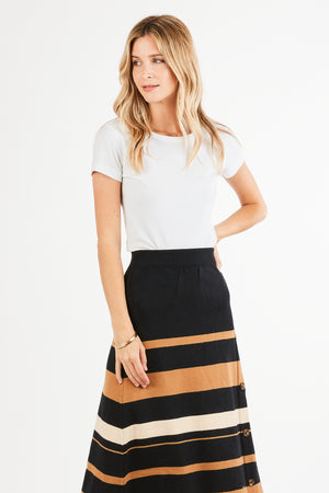 MAXY STRIPED SWEATER SKIRT