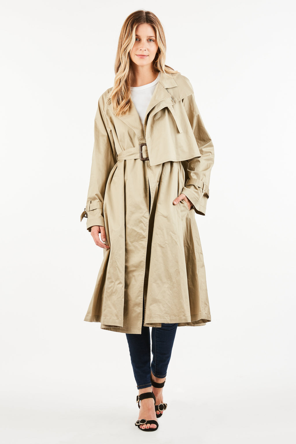 LAUREN FLARED TRENCH COAT
