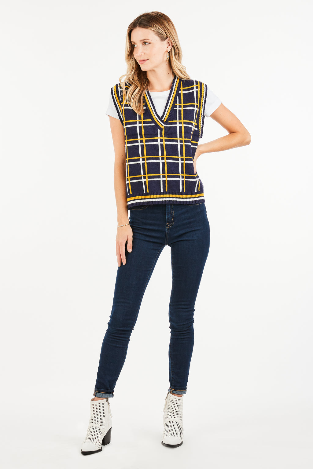 VICTORIA CHECKERED SWEATER VEST