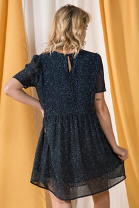 Gathered Mini Dress
