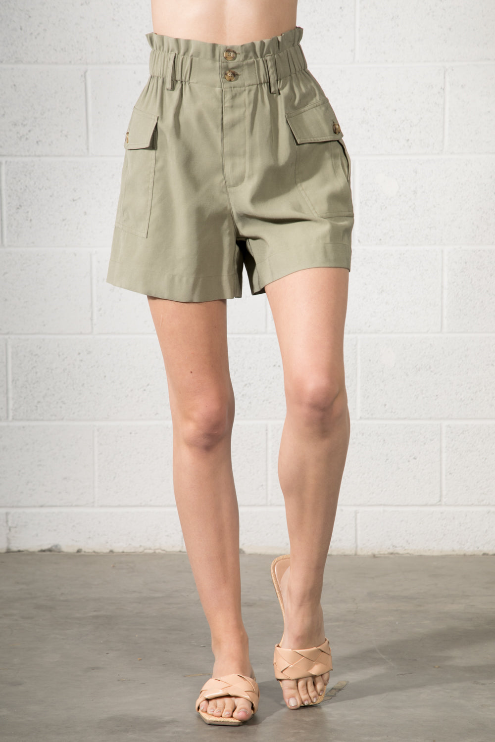 AMERICAN HIGH WAISTED SHORTS