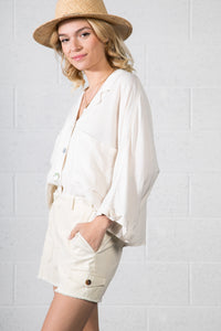 Avah Button Linen Shirt
