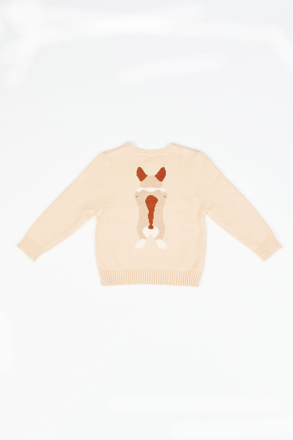 HAPPY PUPPY PULLOVER KNIT SWEATER