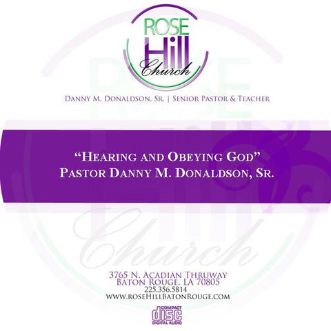 Hearing and Obeying God-1/5/20