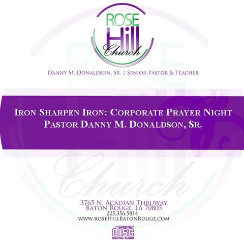 Iron Sharpen Iron: Corporate Prayer Night- 1/30/20
