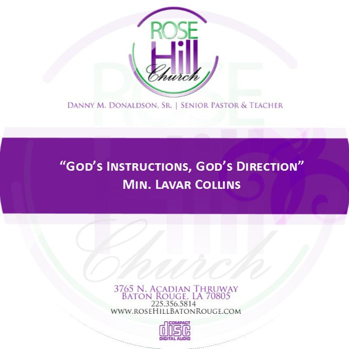 God's Instructions, God Direction-Min. Collins (CD)