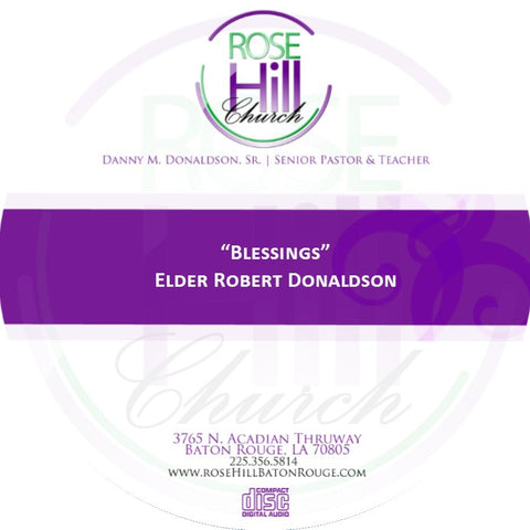 Blessings - Eld. Donaldson (CD)