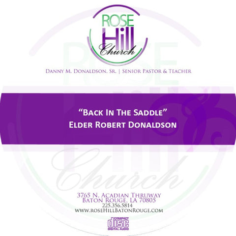 Back In The Saddle - Eld. Donaldson (CD)