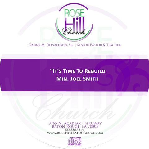 It's Time to Build - Min. Smith (CD)