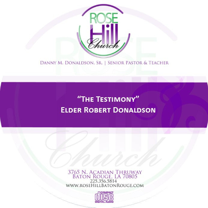 The Testimony - Eld. Donaldson (CD)