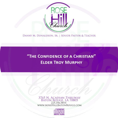 The Confidence of a Christian-Eld. Murphy(CD)