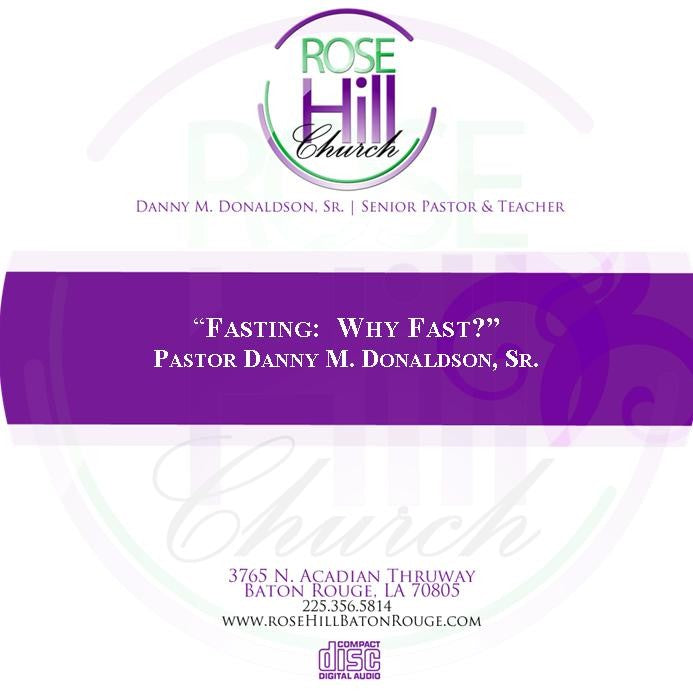 Fasting:  Why Fast? (CD)