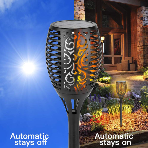 Zugo Solar Path Dancing Flame Tiki Torch Light (2 Pack)