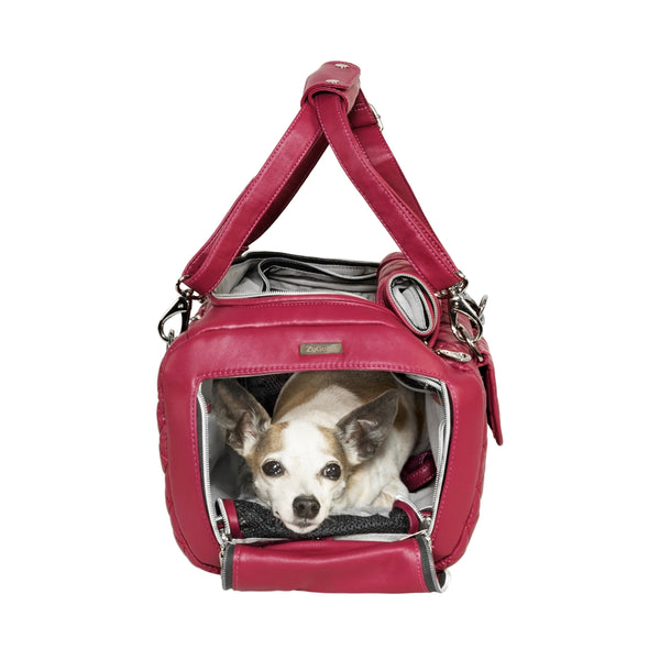Quilted Pet Carrier - Pink