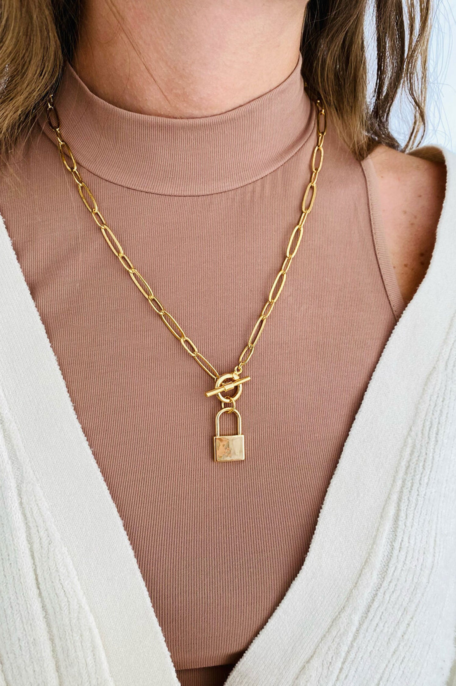 Lock & Toggle Necklace