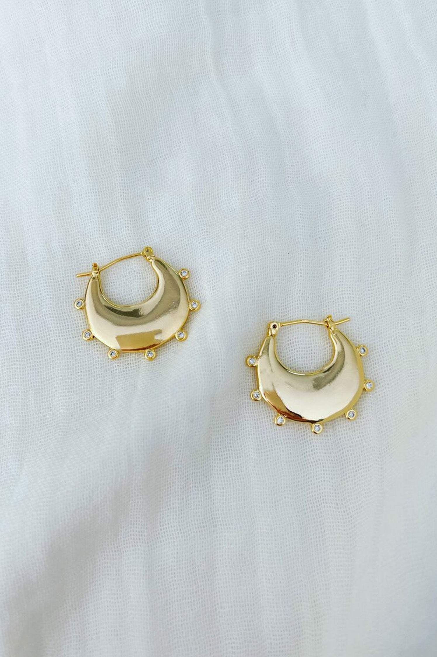 Studded Maggie Hoops