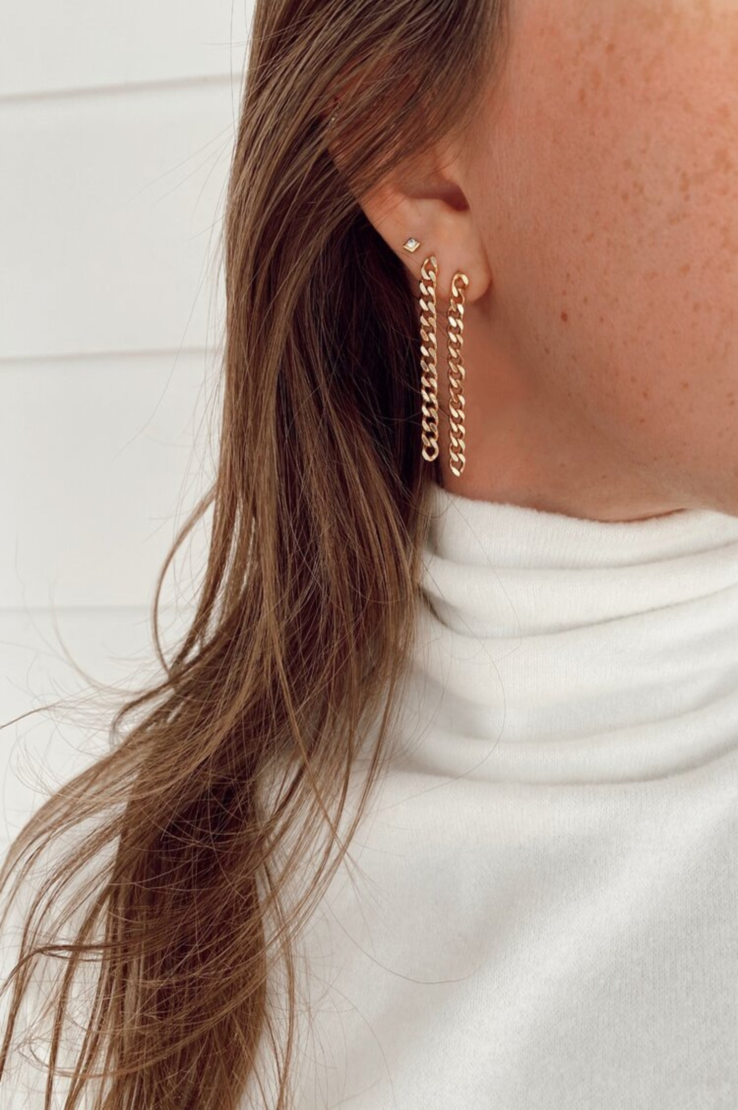 Emily Chain Studs